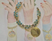 Vintage Coro Wrist Charmer Bracelet