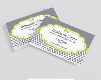 30% OFF SALE Business Card Designs - Printable Business Card Design - Premade - Birds 15b