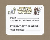 Star Wars Fill in the Blank Thank You Notes - May the Force be with You!