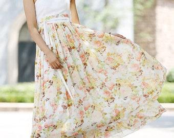 bridesmaid dress, floral Wedding dress, maxi dress, chiffon dress, prom dress, women dress, one shoulder dress, made to order,Plus size 1028