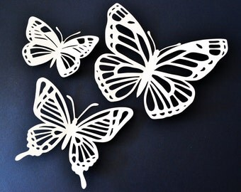 Lovely large paper cut butterfly decorations custom colour