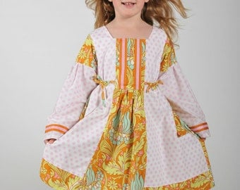 Peasant dress, Girl Dresses, Toddler Dress, Back to school clothes, Pink Dress, Size 2 3 4 5 6 7 8,