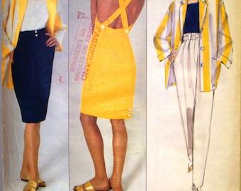 vogue american designer pattern 2475 ~ perry ellis jacket, top, dress, skirt and pants ~ (1990) ~ UNCUT