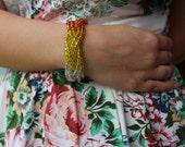 Summer sunset braided Bracelet.