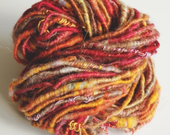 Corespun art yarn 'Autumn Bonfire'