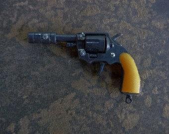 ONE Toy Gun CHARM Six Shooter Silencer Colt 45 Western Cowboy Peacemaker Pistol Pendant