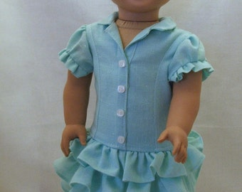"Outback fun dress fits American girl and other 18"" dolls"