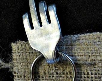 middle finger  fork keychain, adult humor