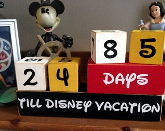 The ORIGINAL Disney Vacation Countdown Wooden Block Set for Days