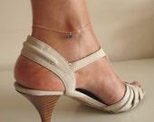 Birthstone Charm Anklet Bracelet. Gold Charm Leg Bracelet. Crystal Dangle Anklet. Elegant Leg Jewelry. Anklet Charm Bracelet. bridal gifts