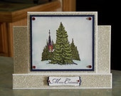 Center Step Christmas Card - Stampin' Up A Wish For Peace