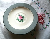 Vintage Floral China Saucers - Set of 4