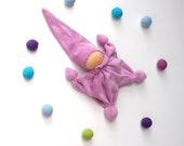 waldorf classic doll gnome lilac ready to ship, classic, Cuddle  toys /eco friendly gifts for kids toys