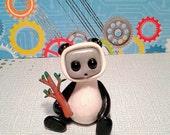 Robot in a Panda Costume