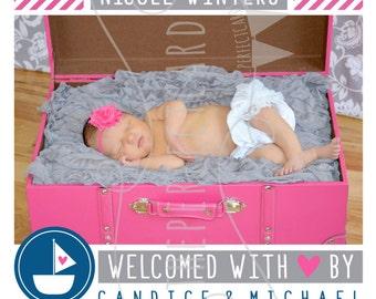 NEW Little Sailor GIRL Birth Announcement