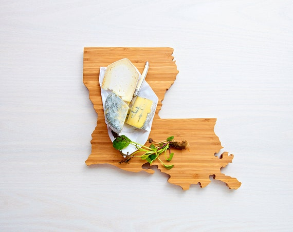 Louisiana State Cutting Board, Mother's Day Gift, Easter Gift, Father's Day Gift, Unique Wedding Gift, Personalized Gift