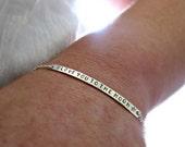 minimalist bracelet, Silver Bar Bracelet, Silver Nameplate Bracelet, Engraved Bracelet, Personalized, Bracelet, Long Bar Bracelet