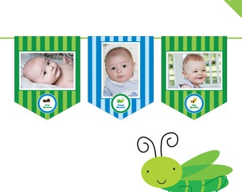 INSTANT DOWNLOAD Insect Party - DIY printable photo banner kit