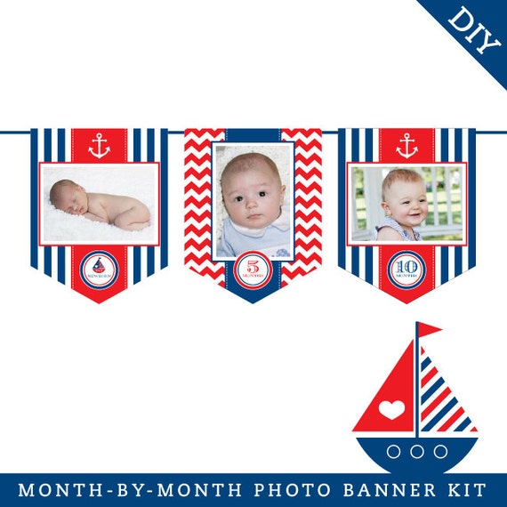 INSTANT DOWNLOAD Nautical Party DIY Printable Photo By