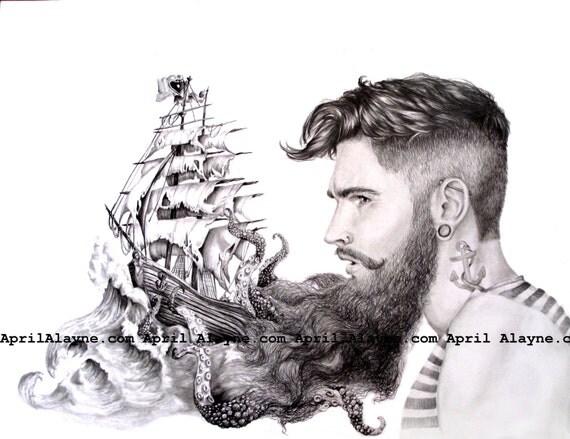 Sailor Beard Drawing Sailor's Beard Illustration