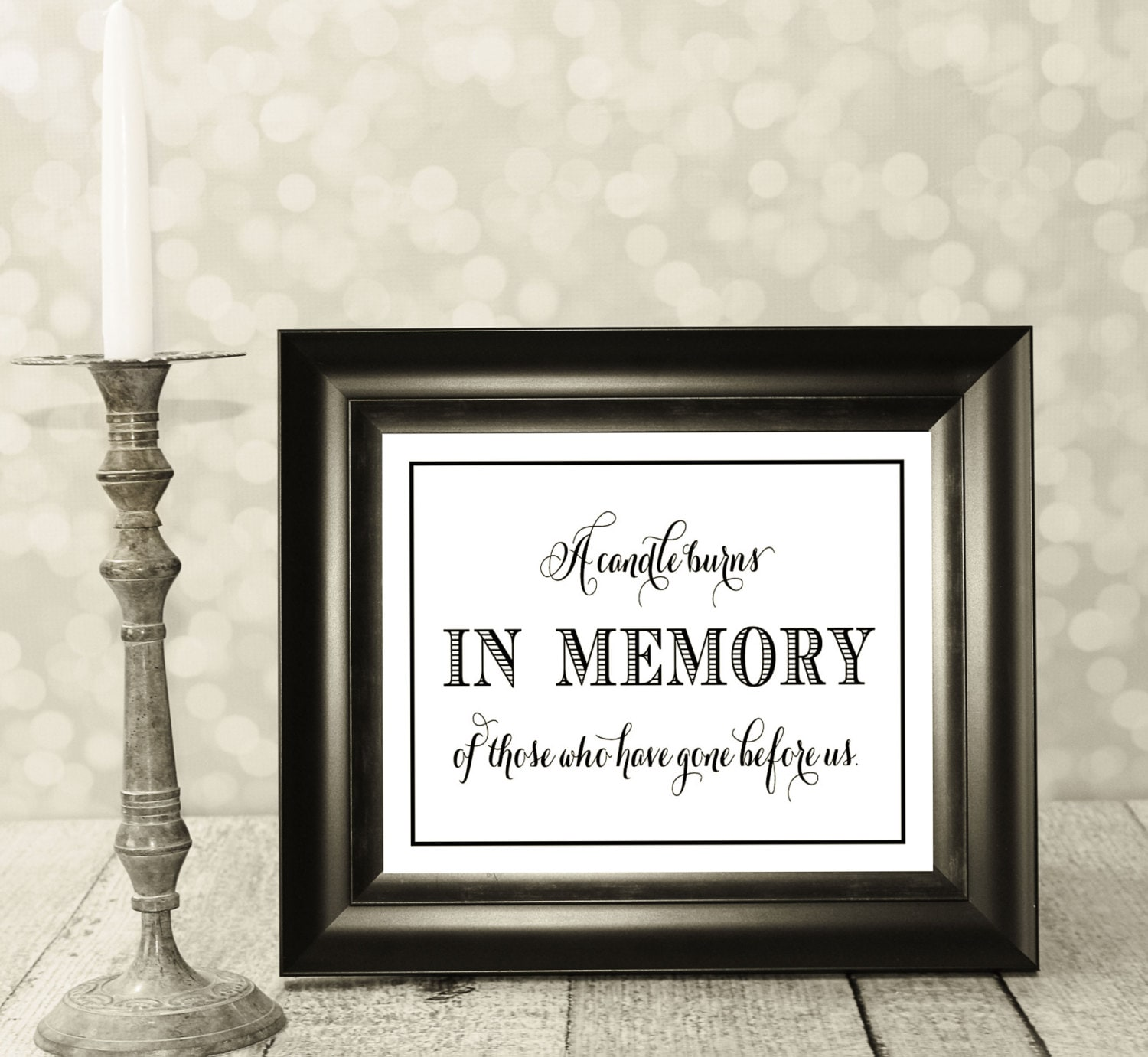 It is an image of Clever This Candle Burns in Loving Memory Free Printable