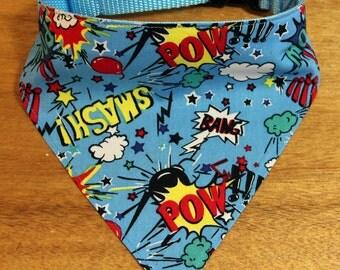 Bandana Dog Collar - Superhero!