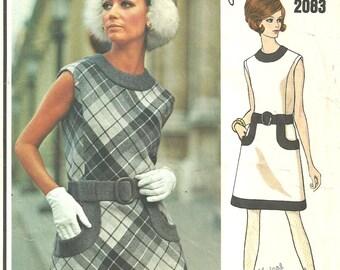 Vogue 2083 / Paris Original / Vintage Designer Sewing Pattern By Pierre Cardin Dress / Size 10