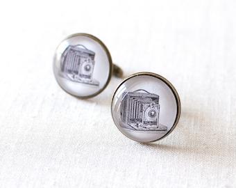SALE -50% OFF. Vintage Camera Cufflinks. Bellows Camera Cufflinks. Victorian Camera Cufflinks. Cufflinks for Him. Wedding Cufflinks.