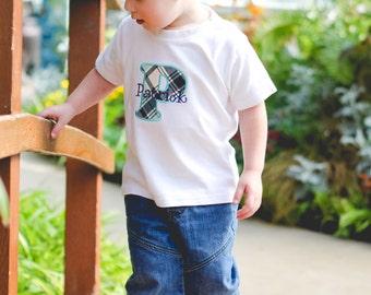 Personalized Boys Shirt - Initial Boy Shirt - Toddler Boy Shirt