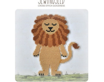 Lion cross stitch pattern, Wizard of Oz Instant Download