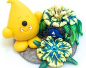 Parker with First Prize Flowers - Polymer Clay Character StoryBook Scene