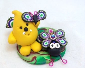 Parker Bug Series - Polymer Clay Character StoryBook Scene - Limited Edition Sculpture