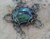 labradorite turtle in sterling silver