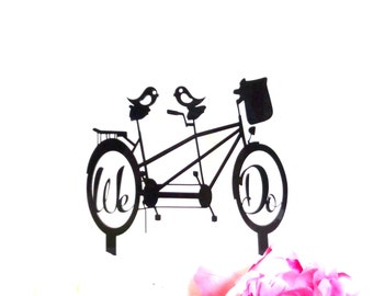 BICYCLE Wedding Cake Topper Bike Riding Couple Bike Cake Topper We Do Wedding Cake Topper Mountain Bike Cake Topper Cyclist Cake Topper