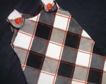 Maryjane Sleep Sack - 12months plus - Black, Gray, White, and Red Plaid - Ultra Cuddle Fleece