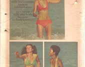 1970s Womens Bikini and Two Piece Swimsuit - Vintage Sewing Pattern Butterick 6674 - Multi Size FF UNCUT