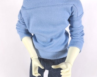Blue Wide Neck Shirt for MSD SD+ Ball Jointed Doll