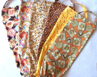 One Plastic Bag Holder , Your Choice: Tea Cabin, Owls, Oranges, Coffee Beans