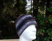 mens hat, boys beanie, crochet hat, beanie, black, grey, gray, brown, vegan friendly, hats for men, multi-colored, youth/adult 2840