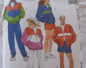 vintage McCALLS 5270 sewing pattern-- SIZE 40-42- LARGE - Misses, Mens & Teen Boys Lined or Unlined Jacket, Pants, or Shorts (1991)