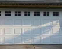 Garage Door Windows Vinyl Decals - Garage Faux Window Vinyl Decals - Window Decals - Outdoor Garage Door Vinyl Windows - Mock Window Decals