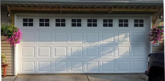 Garage Door Windows Decals Garage Faux Window Decals