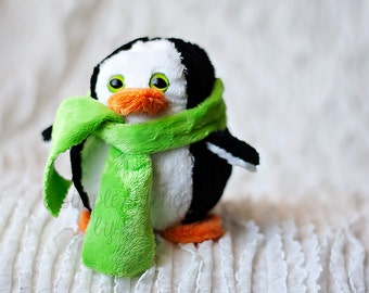 "CUSTOM 5"" Paddy the Penguin Stuffed Animal - Toy - Softie - Stuffed Penguin - SweetBriar Sisters Penguin"
