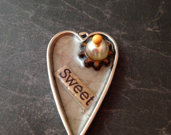 Sweet Steampunk Heart Necklace