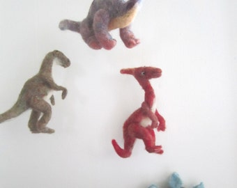 Dinosaur Baby Mobile// needle felted