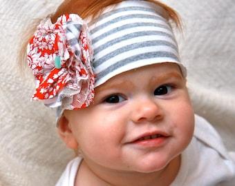 Red Floral Fashionista Headband