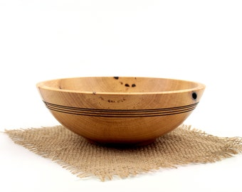 "Wooden 8""  Pecan Bowl / Wooden Hand Turned Bowl"