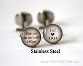 Chocolate Brown Wedding Gift for Groom from Bride, Beach Wedding Gift for Groom Cuff Links Custom Cuff Links Wedding Cuff links Custom Color