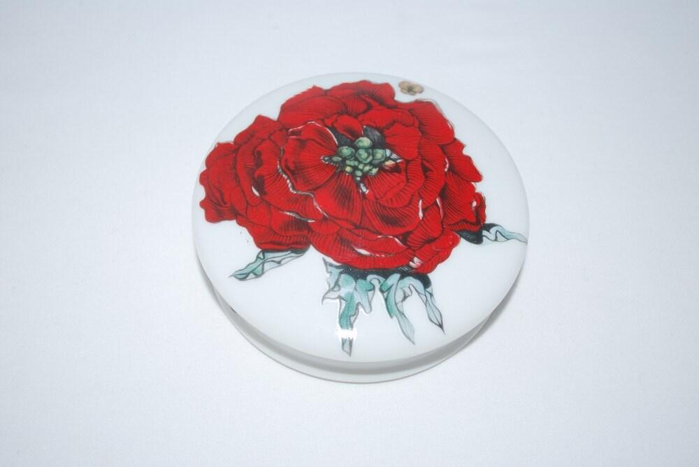 Vintage denby jardin de fleurs red rose and butterflies for Jardin francais jewelry