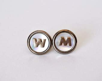 Monogram Cufflinks Tie Bar Set